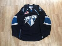 Saskatoon Blades Authentic Team Issued Road Blue Jersey WHL CHL MIC Reebok 56 A