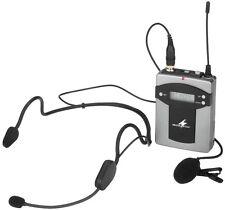 Monacor International Multi-Frequenz-Taschensender mit UHF-PLL TXA-800HSE !!!
