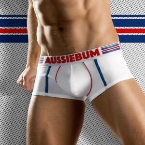 GridFit White AussieBum Men's Underwear/Boxer Trunks Next Day UK Delivery