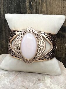Barse Trellis Cuff Bracelet- Pink Mother Of Pearl & Copper- NWT