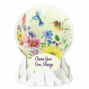 Pop-Up Greeting Card Everyday Globe by Up With Paper - Hummingbird Song
