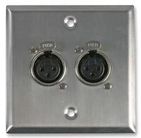 WALL PLATE 2X XLR SOCKETS - Wall Plates and Floor Boxes, Audio Visual - PSG08155