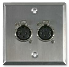 WALL PLATE 2X XLR SOCKETS - Wall Plates and Floor Boxes - Audio Visual - AV16200