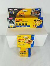 5 Rolls Sealed Kodak Max Versatility 400 + Ultra Color Film Expired plus 1