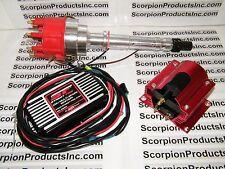 MSD Street Fire Chevy SBC BBC Pro Billet Distributor Ignition Box Coil 350 454