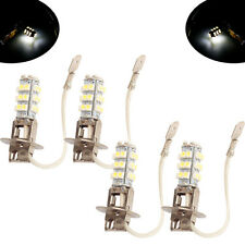 4* H3 3528 LED 28SMD Super White Fog Driving DRL Light Bulbs AU Stock