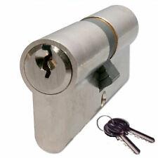 Euro Profile Replacement Cylinder Lock 70mm Lock uPVC Doors Satin Nickel +2 Keys