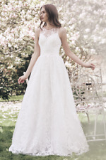 Chi Chi Bridal Olivia Wedding Bridal Lace Embroidered Cocktail Dress UK 6 To 14