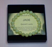 Power Bead Bracelet Lemon Butter Jade Gemstone Semi Precious Crystal Good Luck