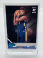 2019-20 Panini Donruss Optic ZION WILLIAMSON RR Base RC/ROOKIE #158 Pelicans PSA