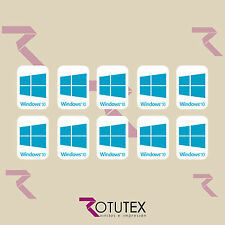 10 x WINDOWS 10 FOR LAPTOP PC HD CYAN BLUE BADGE DECAL STICKER LOGO ADHESIVE