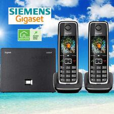 SIEMENS GIGASET C530IP CORDLESS HYBRID PHONE SYSTEM IP / LANDLINE - 2 PHONES