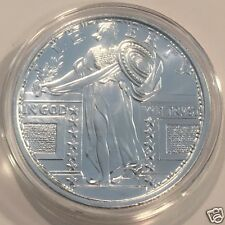 1oz STANDING LIBERTY DESIGN .999 FINE SILVER ROUND - New Sealed  #3127