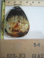 FREE US SHIP ok touch lamp replacement glass panel Jesus with Children 603-JE3