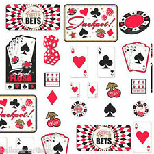 30 Place Your Bets Casino Playing Card Night Party Value Cutouts Decorations