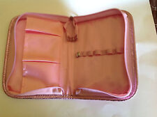 Mally Beauty Pink Snakeskin Print Make up / Cosmetics organizer Bag - Cute!