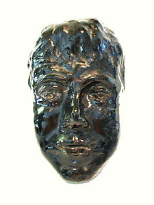 Mid Century Studio Pottery Portrait in Relief - Signed & Dated - Circa 1969