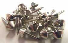100 Nickel Plated Tapered Cone Head Decorative Tack Nail Upholstery Stud