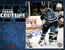 LOGAN COUTURE Signed San Jose Sharks 8x10 Photo 70285