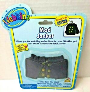 NEW! Ganz Webkinz  Mod Jacket Fits most Webkinz Dogs and Cats With Code