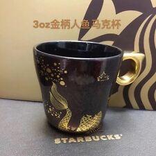 Starbucks 2016 China Anniversary Gold Handle Siren 3oz Mug
