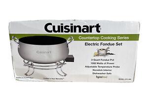 Cuisinart CFO-3FS 3 QT Electric Fondue Set Countertop Cooking Series