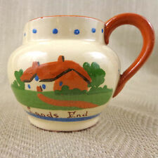 Vintage Torquay Pottery Creamer Jug Motto Ware  Hand Painted Dartmouth Quote Vtg