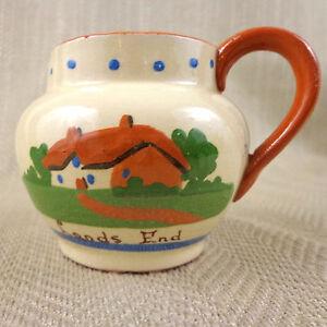 Torquay Ceramiche Brocca Lattiera Dartmouth Lands Taglio Vintage Motto Ware