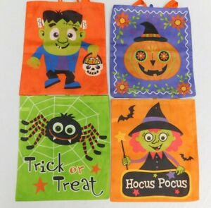 Halloween Trick Or Treat Tote Bags Reusable
