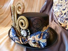 "Doctor Who Steampunk Top Hat ""Whovian, TARDIS, Cosplay"" - OOAK, LIGHTS UP!"
