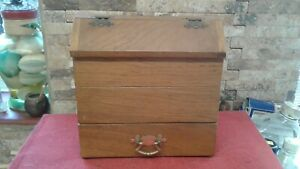 Vintage Wooden Candle Box  Fabulous Condition