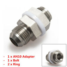 1x Turbo Steel Oil Pan Return Drain Plug Adapter Bung Fitting For AN10 Weldable