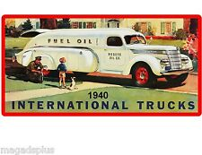 1940 International Oil Truck Refrigerator Toolbox  Magnet Man Cave Gift