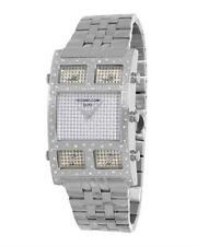 KC TECHNO COM MULTI TIMEZONE MENS WATCH WITH 1.00CTW GENUINE DIAMONDS. BRAND NEW