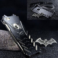 Batman Metal Aluminum Bumper Shockproof Case Cover For iPhone Samsung Huawei