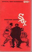 1968 (May 29) Baseball program Baltimore Orioles @ Chicago White Sox, scored~ Gd