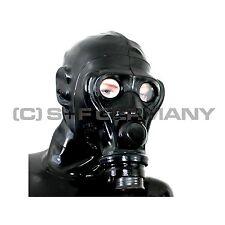 Feticcio ANTIGAS + LATTICE maschera Set F. CATSUIT TUTA tutta HEAVY RUBBER Guanti