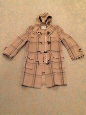 AQUASCUTUM LONDON Wool Zipper Front Hooded Coat Size S / Small