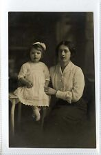 (Gt510-431) Real Photo of Lady with Little Girl, Hull Area c1910 Unused EX