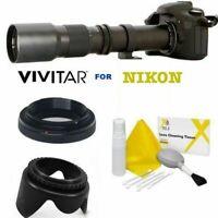 VIVITAR 500MM TELE PRESET ZOOM LENS FOR NIKON D3000 D3100 D3200 D5000 D5100 D90