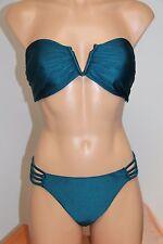 NWT Oneill Swimsuit Bikini 2 piece set Sz XL Lux Solids Strap Pant Strapless