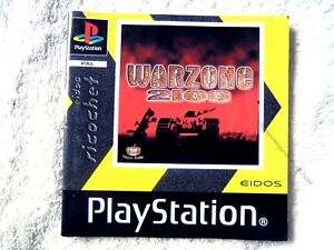 74366 Instruction Booklet - Warzone 2100 - Sony PS1 Playstation 1 (1999) SLES 00