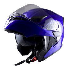 1Storm Motorcycle Modular Flip up Full Face Helmet Dual Visor Glossy Blue