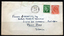 CANADA 1952 A Postal Stationery Cover Type U66 VANCOUVER to SPAIN with SG 414