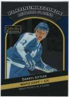 2017-18 O-Pee-Chee Platinum Platinum Records #PR-9 Darryl Sittler Maple Leafs