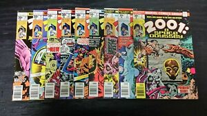 1976 MARVEL COMIC LOT OF (9) 2001 A SPACE ODYSSEY #1-10 MIXED-GRADE VINTAGE