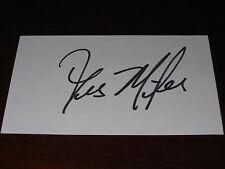 2007 National Champs LSU Les Miles Signed Vintage 3x5 Autograph Index Card