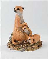 Country Artists Natural World CA03078 a Watchful Eye Meerkat & Cubs
