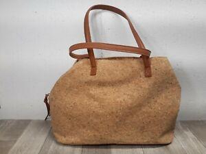 Preowned Tan Cork Tote Bag