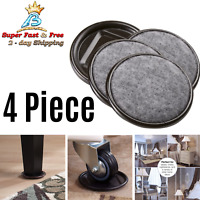 Round Carpet Bottom Furniture Caster Cups Hardwood Floors Protection 4 Piece New